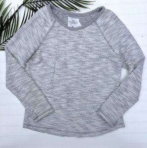 H&M Gray/White Marled Long Sleeved Top